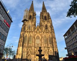 The evening sunset light reflects on to the cathedral giving it a warm golden colour. , David Lally - September 2015