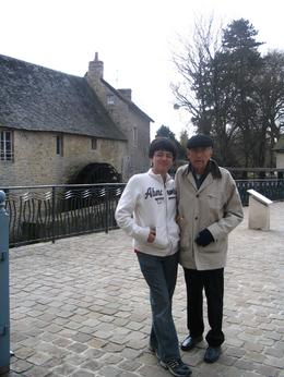 Here is a photo of Grandpa with grandson - Daniel Cortez in Bayuex, Fr., Samuel C - March 2008
