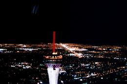 Photo of Las Vegas Las Vegas Night Strip Helicopter Tour Las Vegas Strip near Stratosphere as seen from the helicopter