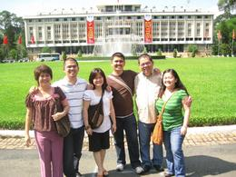 The family at the Reunification Palace., Christine G - October 2008