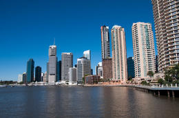 View of Brisbane Skyline from river - May 2011