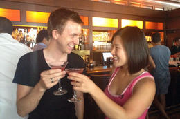 Cheers!, Jules & Brock - July 2012