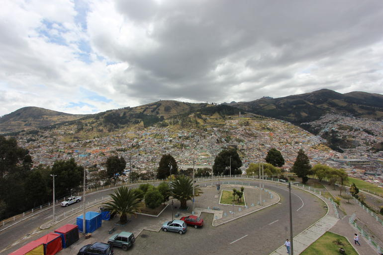 The south side of Quito