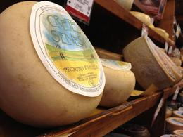 Pienza's famous pecorino cheese - July 2013