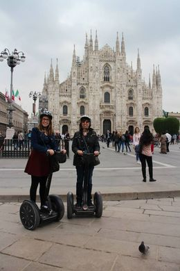 Charlie and Julie Anne on their fun Segway tour of Milan , Julie G - May 2015