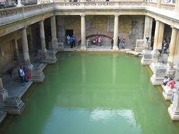 The Roman baths in Bath. There is quite a museum attached to the baths. - July 2009
