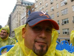 Trying to keep dry, Eddie V - September 2008