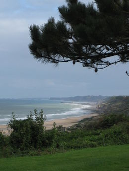 Seventy years after the invasion, the Normandy coastline is quiet below the American Cemetery at Omaha Beach. , Frank R - October 2015
