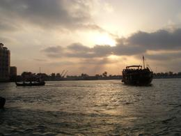 Picture taken during the city tour looking down the creek towards the ocean. Very busy creeks with hundreds of dhows (small boats) crossing the creek continuously. - June 2008