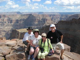 Me(Aron), my wife, Michele and her parents, Betty and Stewart at Eagle Point, next to the Skywalk. , Aron W - October 2011
