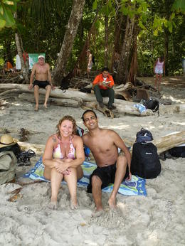My husband and me after swimming in the amazing water , Orit N - May 2011