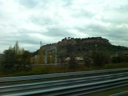 Orvieto from the motorway , Katherine D - November 2014