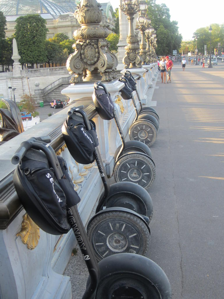 Segway parking lot. - Paris