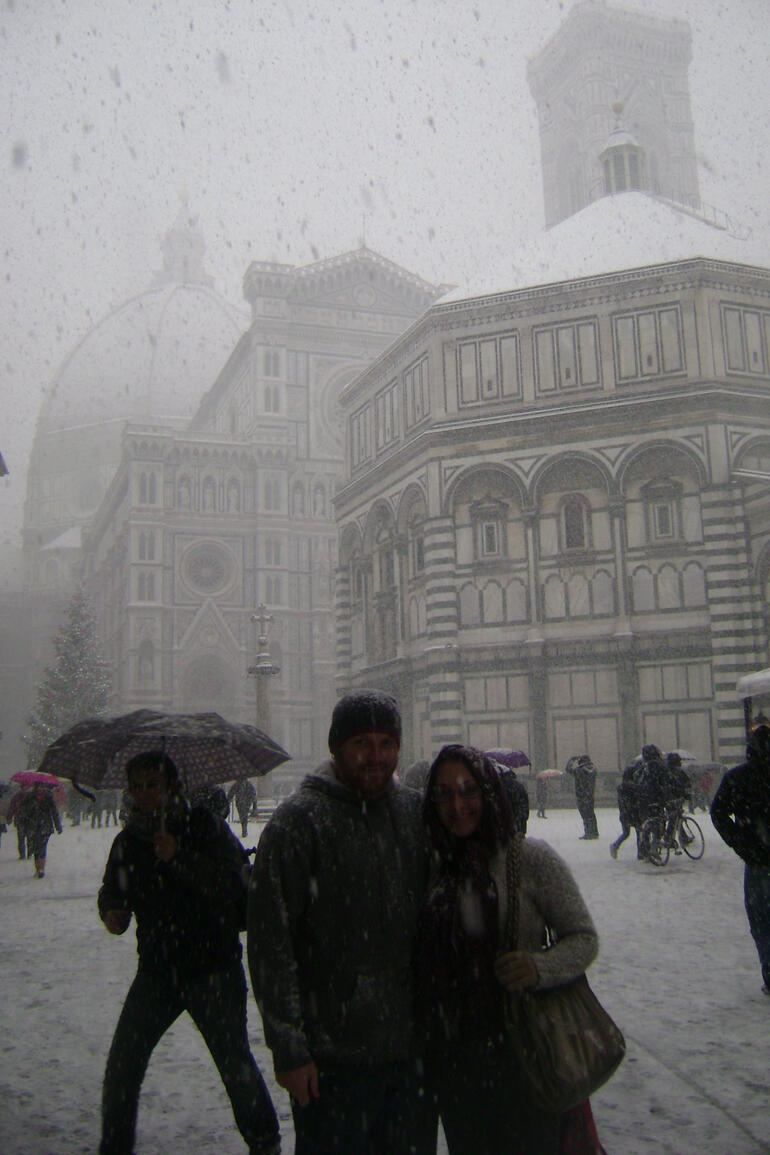 SNOW in Florence Italy! -