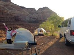 Photo of Las Vegas 3-Day National Parks Camping Tour: Grand Canyon, Zion, Bryce Canyon and Monument Valley from Las Vegas Southwest USA campsite