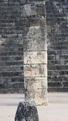 Photo of Cancun Chichen Itza Day Trip from Cancun Stone Column at Chichen Itza