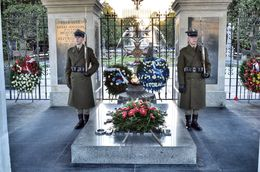 The tomb is located on pilsudski square and contains the remains of an unidentified polish soldier of war. , David Lally - October 2015