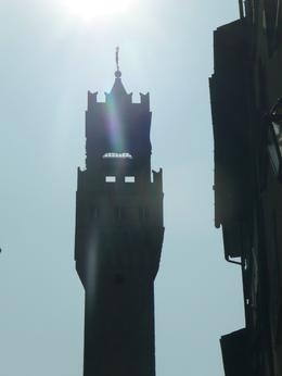Photo of   Close-Up of Sun Beaming Over the Palazzo Vecchio