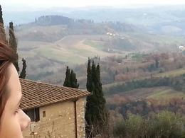 Photo of Florence Siena and San Gimignano Day Trip from Florence Daughter looking over Tuscany