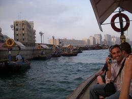 Taken while crossing Dubai Creek on a dhow. Very small boat where you only have a short time to get on and off the boat. A very quick way of crossing from one side to the other. - June 2008