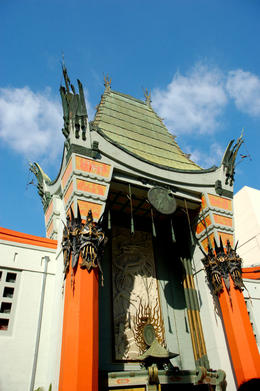 The most famous theatre in the world, Grauman's Chinese Theatre. Hollywood, California. - May 2011