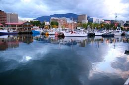Photo of   Hobart's Mt. Wellington from the City