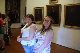 Inside the Vasari Corridor, with Kim and Paige Goldsborough. , John G - August 2014