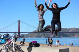 Photo of San Francisco San Francisco Independent Bike or Electric Bike Tour with Rental Jumping