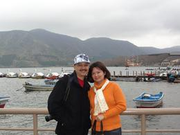 Me and my wife, before cruising Lake Ashi, RANDOLPH A - April 2010