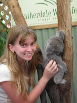 Cuddling a koala , Nadezhda N - January 2011