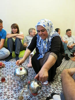 Photo of Istanbul Eat Like a Local: Istanbul Food and Culture Tour with Dinner at Local Family Home Serving tea