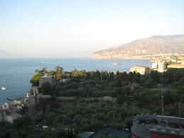 View from our hotel in sorrento , jesus b - September 2011