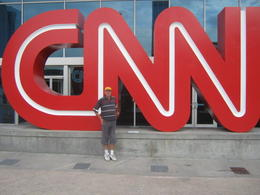 Photo of   CNN logo at the front of the building
