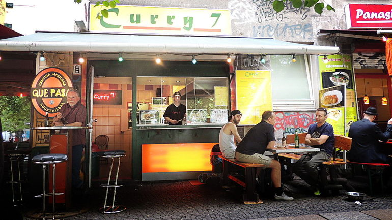 Curry wurst stand