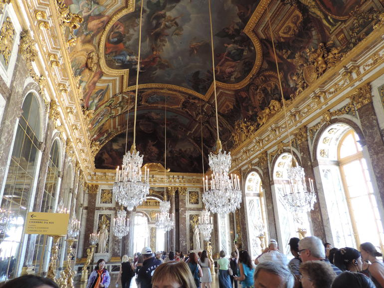 The palace is awe inspiring. This is a photo in the Hall of Mirrors
