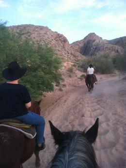 Photo of Las Vegas Wild West Sunset Horseback Ride with Dinner Hitting the Trail