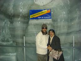 Prof S K Agarwal from India along with wife Anjali inside ice palace at Jungfraujoch. it was extremely cold inside and we recommend that travelers should come with hand gloves and woolen cap as the..., Sudhir K A - September 2009