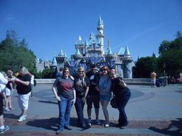 My friends and I getting a group shot in Disneyland. 3 , CoyoteLovely - April 2016