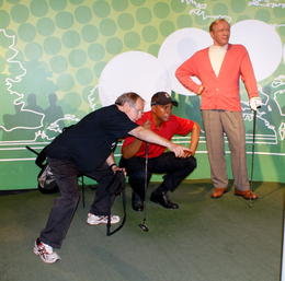Giving Tiger Woods and Arnie Palmer a few tips , MICHAEL B - October 2013