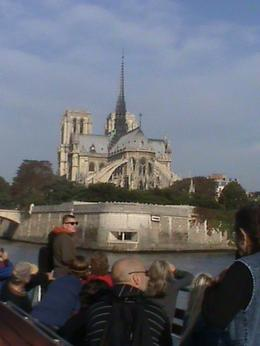 This is a view of Notre Dame as we pass on our journey down the Seine River., Helen K - October 2009