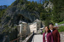 My wife and I are in front of the castle , sultt_tw - September 2014