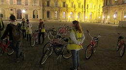 Photo of Paris Paris Night Bike Tour The Louvre after dark