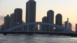 Going down the Sumida River! - March 2012