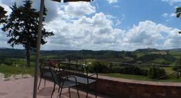 We had a spectacular view of San Gimignano from our dinning area. , CarolineChee - June 2014