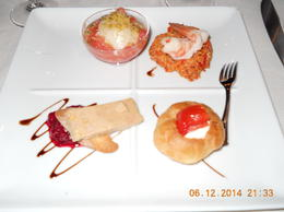 Photo of Paris Dinner Cruise on the Seine River with Hotel Pickup Beuatifully Presented Food