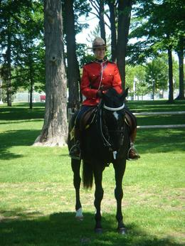 A mounty at the RCMP stables, Krishnan Vaitheeswaran - June 2009