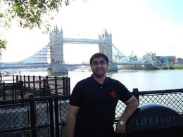 Faisal next to the London Bridge, Faisal N - August 2009
