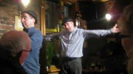 "Picture 1 from ""Waiting on Godot"" in the Duke Pub., Jamie L - January 2010"