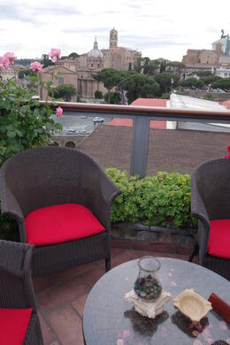 Photo of Rome Viator VIP: Exclusive Rome Rooftop Dinner and Colosseum Night Tour Including Underground Chambers Hotel Forum rooftop terrace