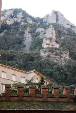 Photo of Barcelona Montserrat and Cava Trail Small Group Day Trip from Barcelona Looking up at Montserrat